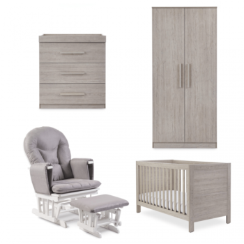 Ickle Bubba Grantham 5 Piece Set with Foam Mattress - Grey Oak