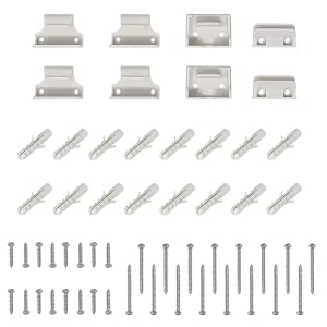 Air Retractable Stair Gate 2 Sets of Fixings and 1 Set of Skirting Spacers Included