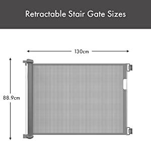 Air Retractable Stair Gate Dimensions