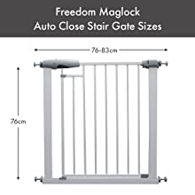 Callowesse Magnetic Freedom Baby Gate Dimensions