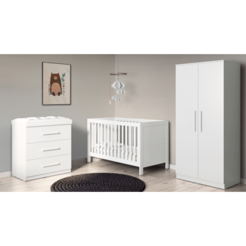 Ickle Bubba Grantham 3 Piece Set - Brushed White