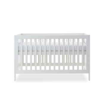 Ickle Bubba Grantham 3 Piece Set - Brushed White cot bed high