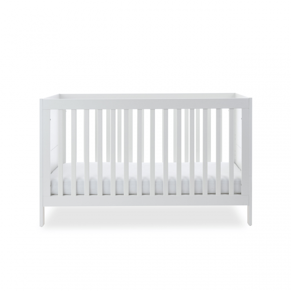 Ickle Bubba Grantham 3 Piece Set - Brushed White cot bed low