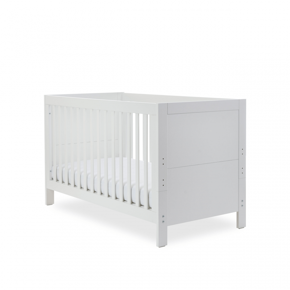 Ickle Bubba Grantham 3 Piece Set - Brushed White cot bed