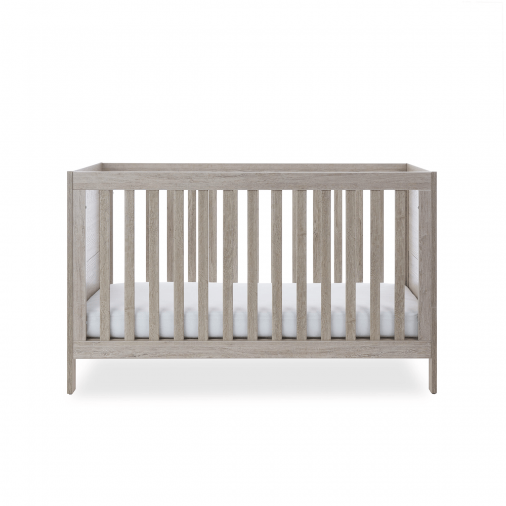 Ickle Bubba Grantham 3 Piece Set - Grey Oak cot bed low