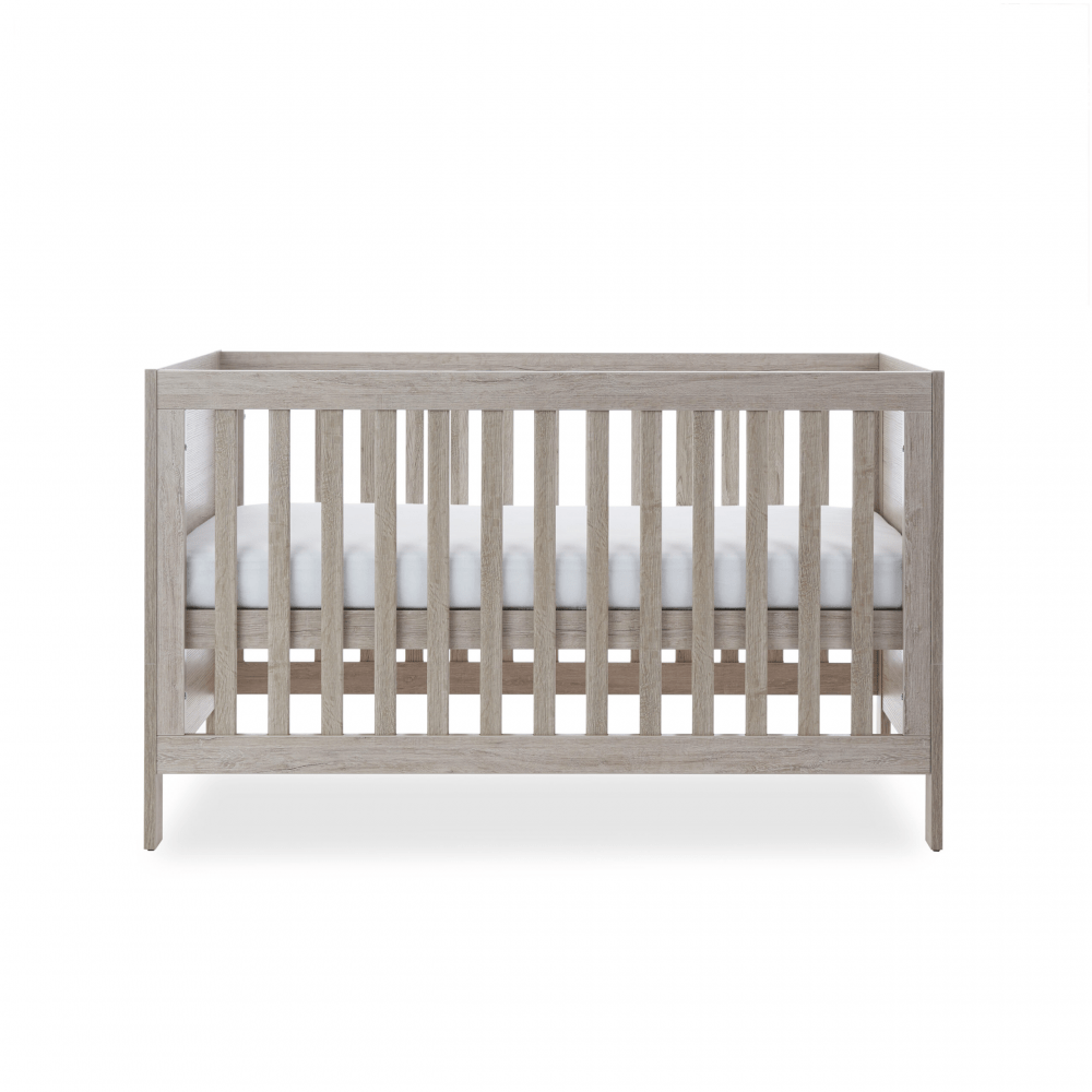 Ickle Bubba Grantham 3 Piece Set - Grey Oak cot bed middle