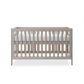 Ickle Bubba Grantham 3 Piece Set - Grey Oak cot bed top