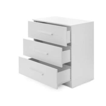 Ickle Bubba Grantham Mini 3 Piece Set - Brushed White chest of drawers open