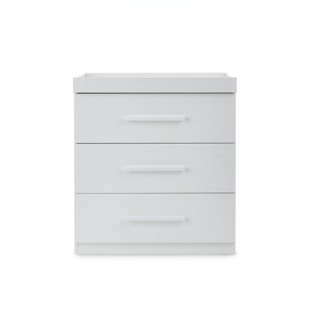 Ickle Bubba Grantham Mini 3 Piece Set - Brushed White chest of drawers