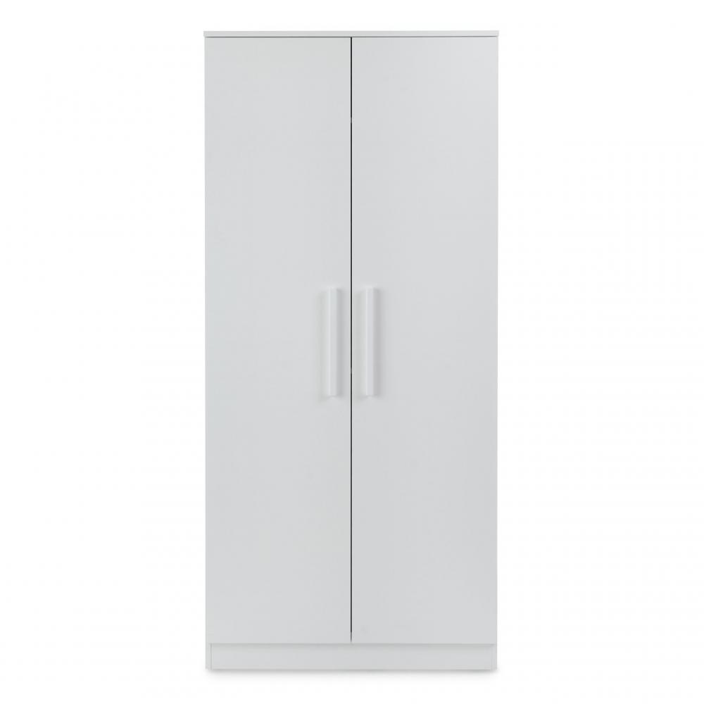 Ickle Bubba Grantham Mini 3 Piece Set - Brushed White double wardrobe