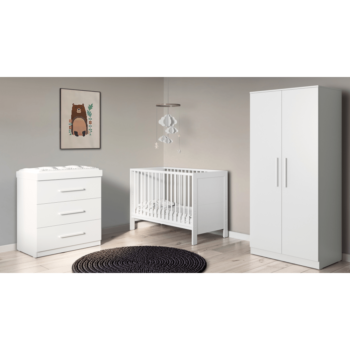 Ickle Bubba Grantham Mini 3 Piece Set - Brushed White lifestyle
