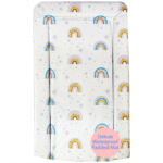 Callowesse Changing Mat Deluxe Waterproof with Raised Edges  - Rainbow Stars