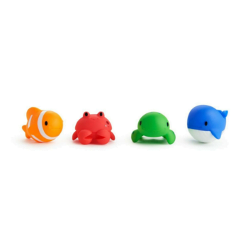 Munchkin Floating Ocean Animal Themed, Bath Squirt Toys for Baby, Pack of 4