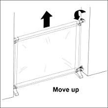 Callowesse Joey Portable Barrier Upwards Position