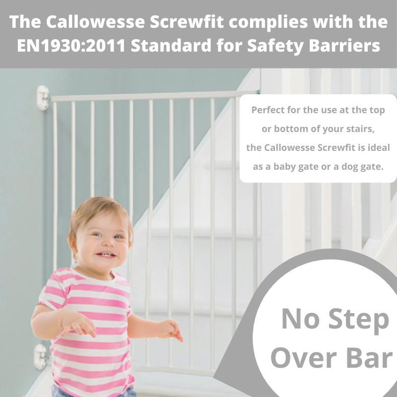 Callowesse Screwfit Metal Stair Gate – 76-81 cm