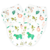 Callowesse Newborn Baby Swaddle - 0-3 Months - Bears and Blossoms - Pack of 2