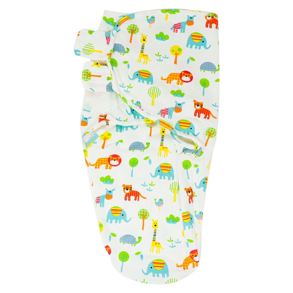 Callowesse Newborn Baby Swaddle - 0-3 Months - Exotic Kingdom