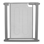 Callowesse Metal Mesh Stair Gate 75-82cm - Pressure Fit Steel Mesh Safety Gate - Ash