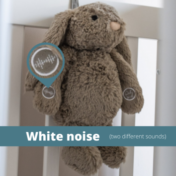 Callowesse© Dreamy Willow Bunny – Baby Sleep Aid with Smart Cry Sensor
