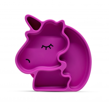 Callowesse Animal Silicone Plate - Pink Unicorn