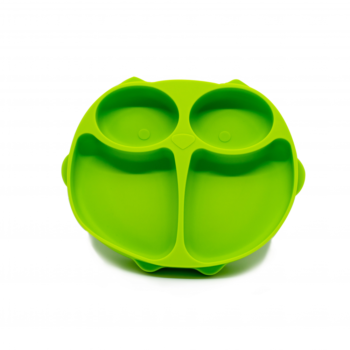 Callowesse Animal Silicone Plate - Green Owl