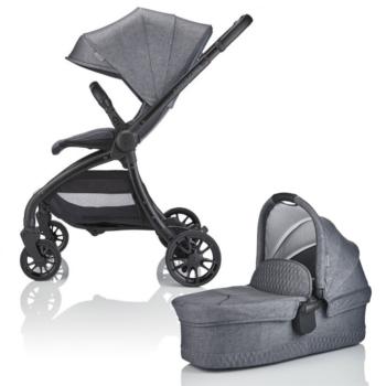 JuniorJones J-SPIRIT Stroller and Carrycot 2 in 1 Bundle - Frost Grey