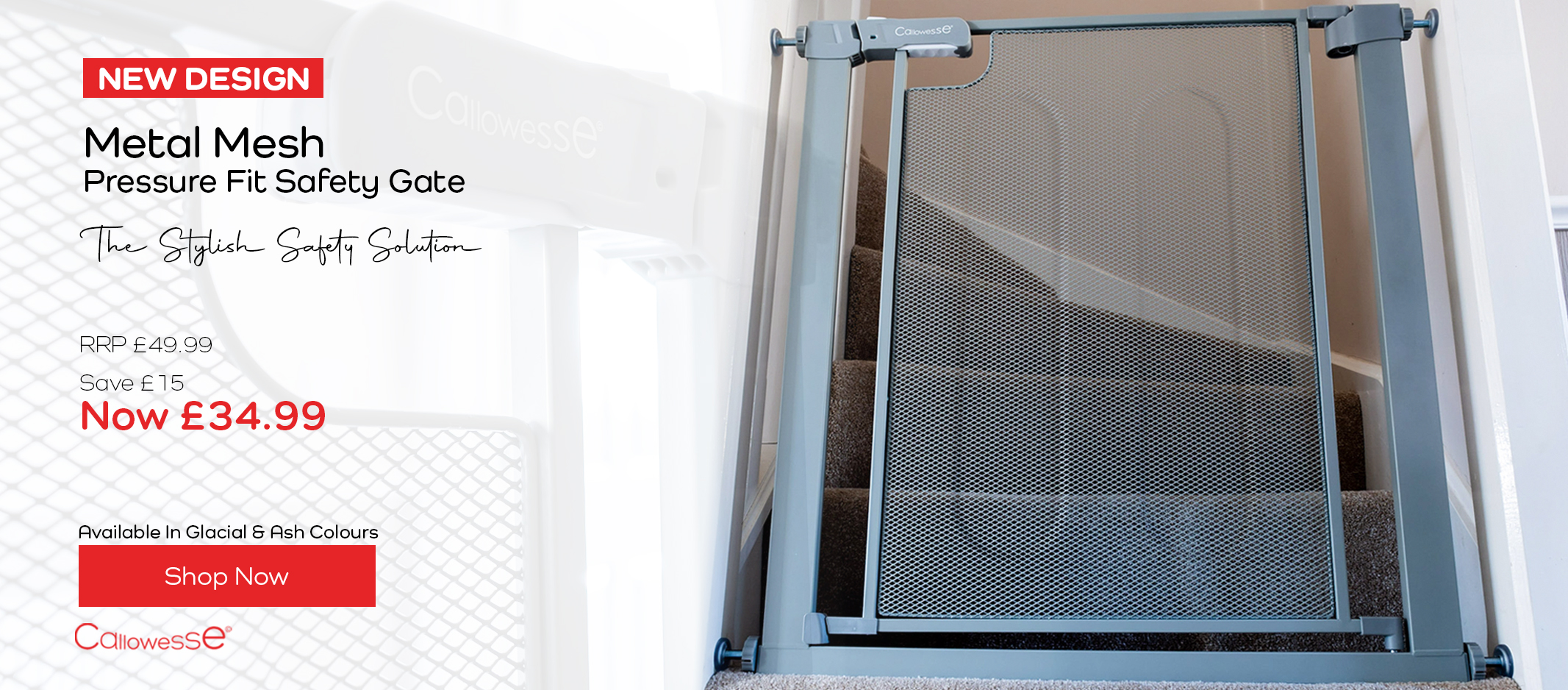 Callowesse Metal Mesh Safety Gate