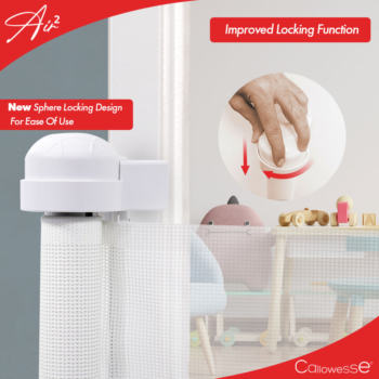 Callowesse Air2 Retractable Stair 0-160cm – White- How to use lock