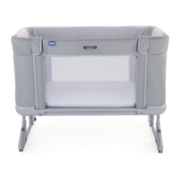 Chicco Next2Me Forever Side-Sleeping Bedside Cot - Cool Grey