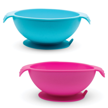 Callowesse Silicone Bowls 2 Pack - Pink and Blue