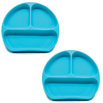 Callowesse Silicone Suction Plates 2 Pack - Blue