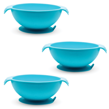 Callowesse Silicone Bowls 3 Pack - Blue