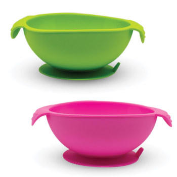 Callowesse Silicone Bowls 2 Pack - Green and Pink