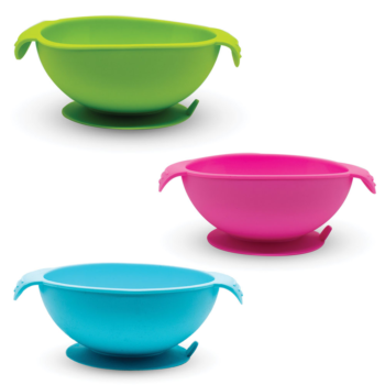 Callowesse Silicone Bowls 3 Pack - Green, Pink and Blue