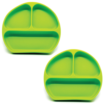 Callowesse Silicone Suction Plates 2 Pack - Green