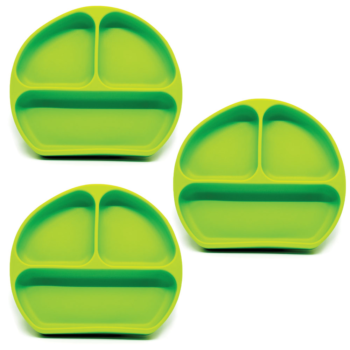 Callowesse Silicone Suction Plates 3 Pack - Green