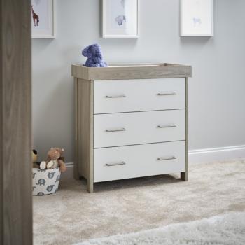 Nika Changing Unit- Grey Wash & White- Liefstyle Image