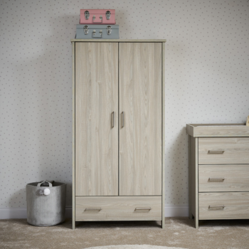 Nika Double wardrobe- Grey Wash- Lifestyle Image