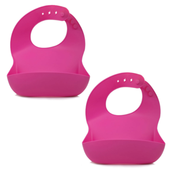 Callowesse Silicone Bibs 2 Pack - Pink