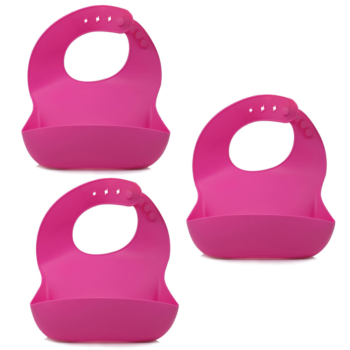 Callowesse Silicone Bibs 3 Pack - Pink