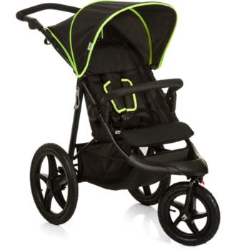 Hauck Runner Stroller- Black- Neon Yellow- Main Image