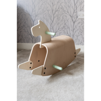 Callowesse Pinto Wooden Rocking Horse - 3