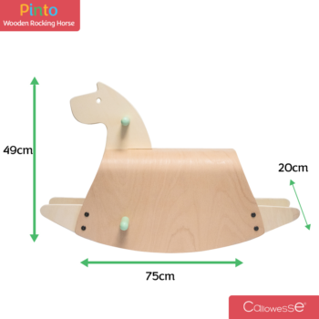 Callowesse Pinto Wooden Rocking Horse Dimensions