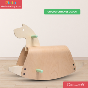 Callowesse Pinto Wooden Rocking Horse Fun-Horse-Design