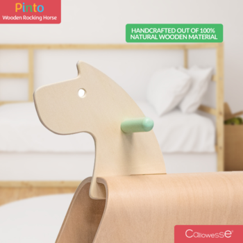 Callowesse Pinto Wooden Rocking Horse Handcrafted-Wood