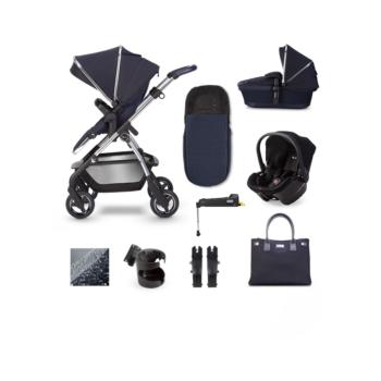 Silver Cross Wayfarer 21 Travel System Simplicity Plus & ISOFIX Base Bundle – Sapphire