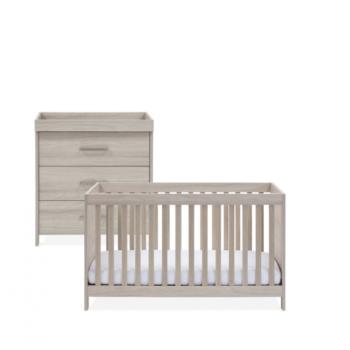 Silver Cross Ascot 2 Piece Room Set - Cot Bed & Dresser