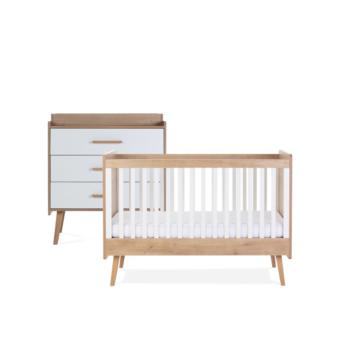 Silver Cross Westport 2 Piece Room Set - Cot Bed & Dresser